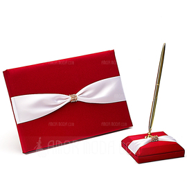 Perfect Rhinestones/Bow Guestbook & Pen Set (101018138)