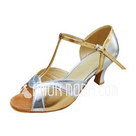 Vrouwen Patent Leather Hakken Sandalen Latijn met T-Riempjes Dansschoenen (053013015)