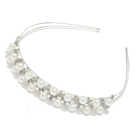 Lovely Alloy/Pearl Headbands (042004255)