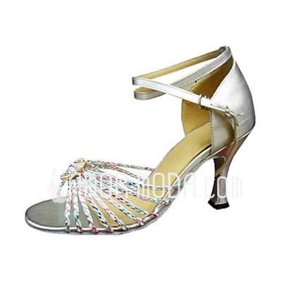 Frauen Kunstleder Heels Sandalen Latin mit Knöchelriemen Tanzschuhe (053013245)