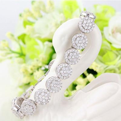 Schöne Kupfer mit Zirkonia Damen Armbänder (011051736)