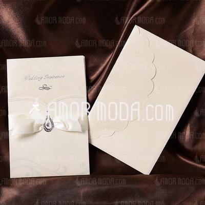 Estilo clásico Wrap & Pocket Tarjetas de invitación con Cintas (Juego de 50) (114032382)