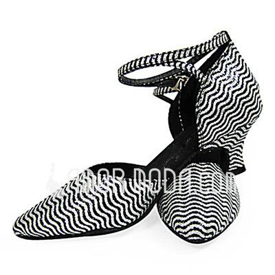 Frauen Funkelnde Glitzer Heels Absatzschuhe Moderne mit Knöchelriemen Tanzschuhe (053013576)