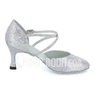 Frauen Funkelnde Glitzer Heels Absatzschuhe Modern Style Ballsaal mit Knöchelriemen Tanzschuhe (053021384)