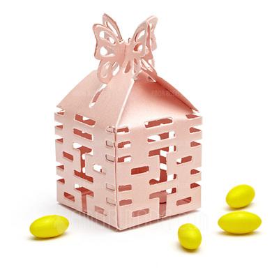 Doppeltes Glück Cut-out Cubic Karton Papier Geschenkboxen (Satz von 12) (050010120)