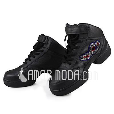 Vrouwen Echt leer Flats Dans Sneakers Oefening Dansschoenen (053013142)