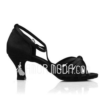Donna Raso Tacchi Sandalo Latino Scarpe da ballo (053012980)