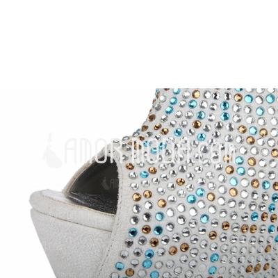 Wildleder Andere Sandalen Keile Peep Toe mit Strass Schuhe (087040900)