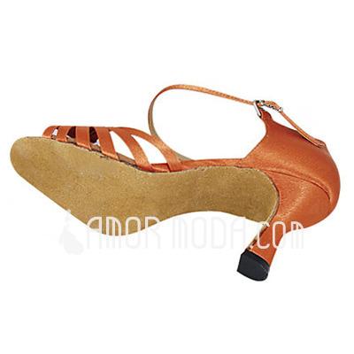 Frauen Satiniert Sandalen Latin Ballsaal Tanzschuhe (053013259)