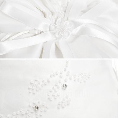 Elegant Satin mit Des Bowknot/Nachahmungen von Perlen Braut Geld-Beutel (012003820)