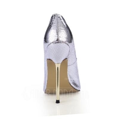 Kunstleder Stöckel Absatz Sandalen Absatzschuhe Peep Toe Schuhe (087051820)