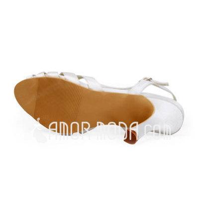 Vrouwen Satijn Stiletto Heel Sandalen Slingbacks (047011812)