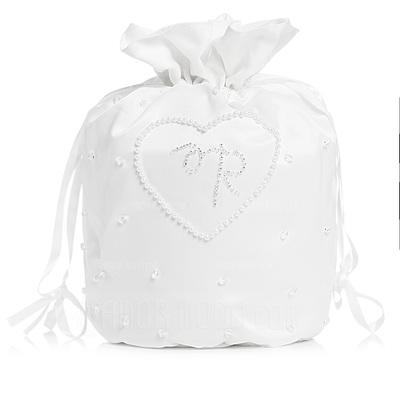 Vornehm Satin mit Synthetischen Perlen Braut Geld-Beutel (012003973)