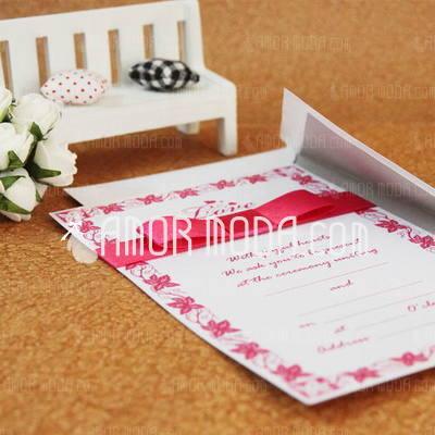 Klassieke Stijl Standaard Kerstkaarten Invitation Cards met Linten (Set van 50) (114030739)