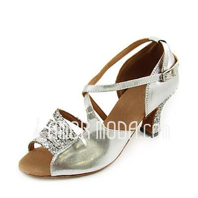 Vrouwen Sprankelende Glitter Patent Leather Hakken sandalen Latijn Dansschoenen (053013270)