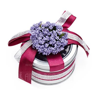 Schön Zylinder Zugunsten Zinn mit Blumen/Bänder (Satz 6) (050016136)
