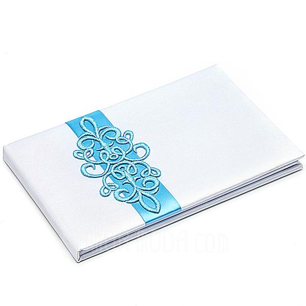 Desplácese Teal Fajas Libro de visitas & sistema de la pluma (101018164)