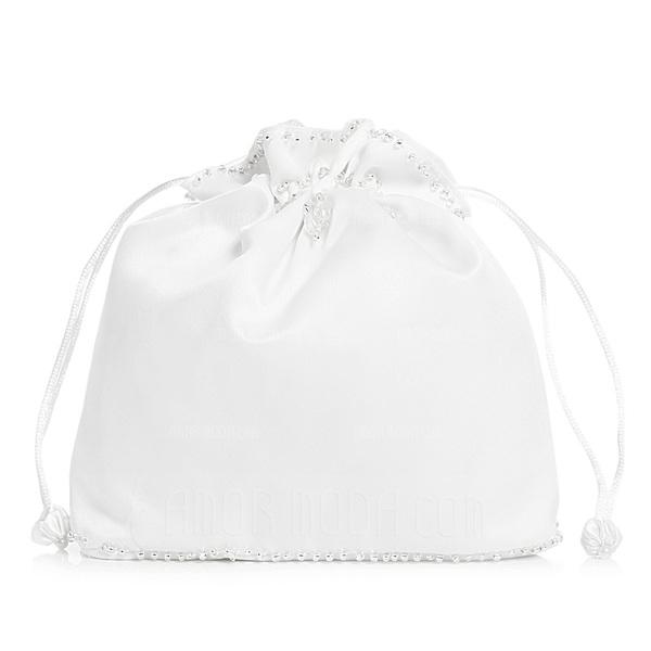 Uniek Satijn met Imitatie Parel Bruidstasje (012003826)