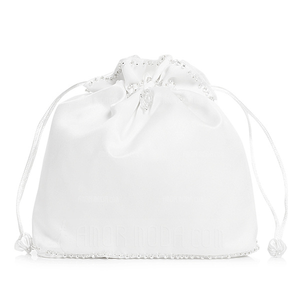 Unique Satin With Imitation Pearl Bridal Purse (012003826)