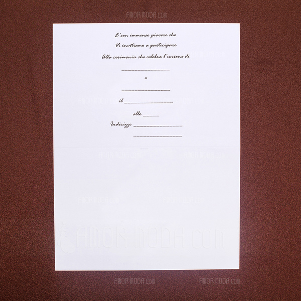 Stile Floreale Wrap & Pocket Invitation Cards (Set di 50) (114041810)