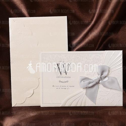 Stile Floreale Wrap & Pocket Invitation Cards con Archi (Set di 50) (114032384)