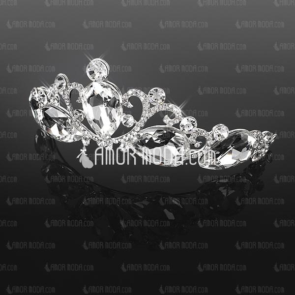 Shining Crystal/Alloy Tiaras (042019236)
