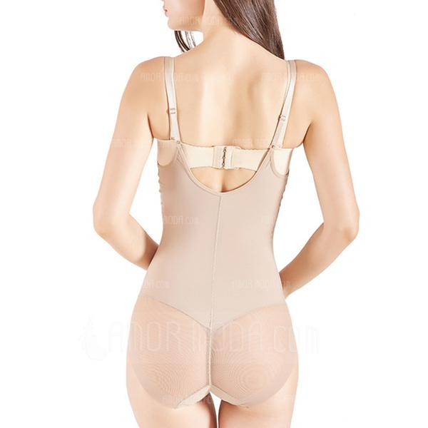 Women Feminine/Classic Polyester/Spandex/Chinlon Breathability Bodysuit Shapewear (125192053)
