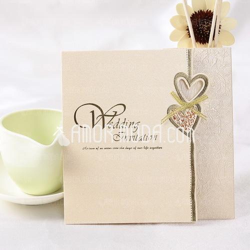 Estilo para el Corazón Z-Fold Invitation Cards (Juego de 50) (114032364)