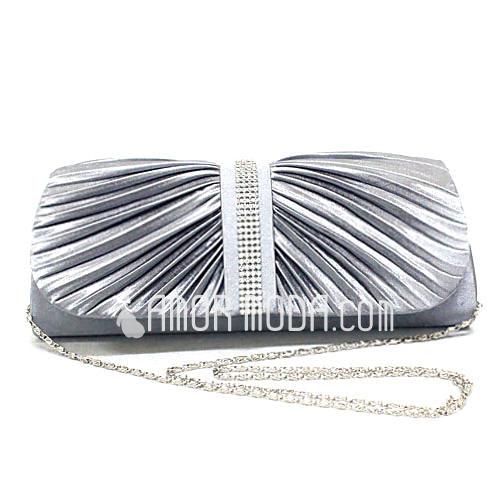 Elegant Satin mit Rüschen/Strass Handtaschen (012025161)