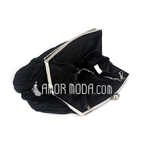 Prächtig Satin mit Strass Handtaschen (012012256)