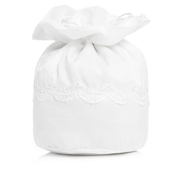Den Fashional Satäng med Oäkta Pearl/Spetsar Brudväska (012003825)