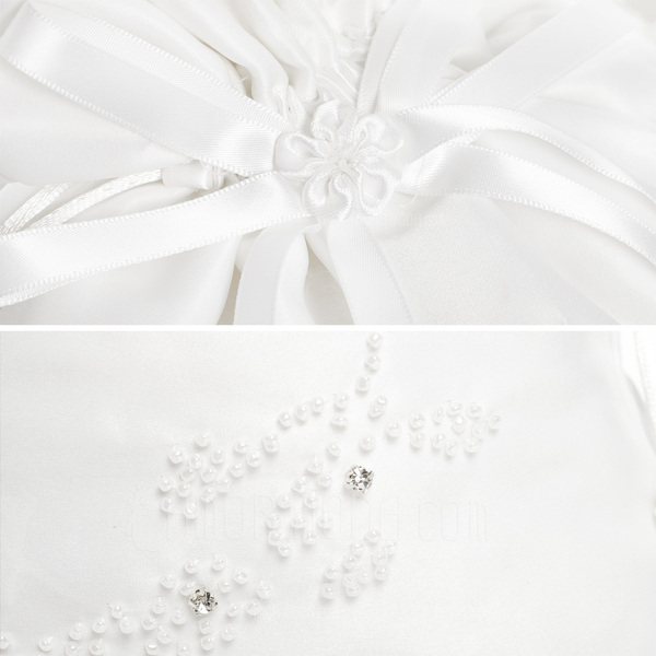 Elegant Satin With Bowknot/Imitation Pearl Bridal Purse (012003820)