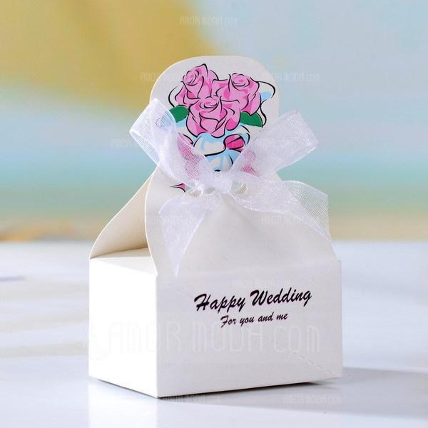 Smoking & Abendkleid Geschenkboxen mit Bänder (Satz von 12) (050026291)