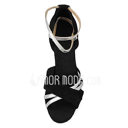 Frauen Satin Heels Sandalen Latin mit Knöchelriemen Tanzschuhe (053013125)