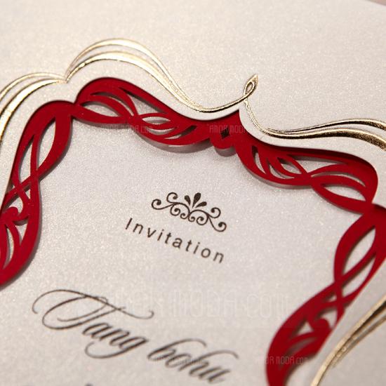 Individualisiert Vintage Art Wrap & Pocket Invitation Cards (Satz Von 50) (114031406)