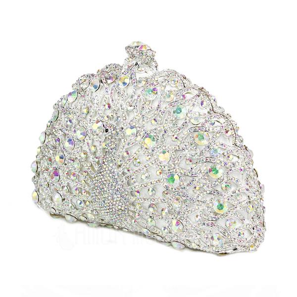 Glänzende Satin mit Tschechische Stones Handtaschen (012051302)