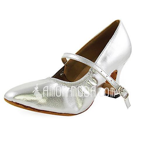Vrouwen Kunstleer Hakken Pumps Moderne Ballroom Dansschoenen (053013304)