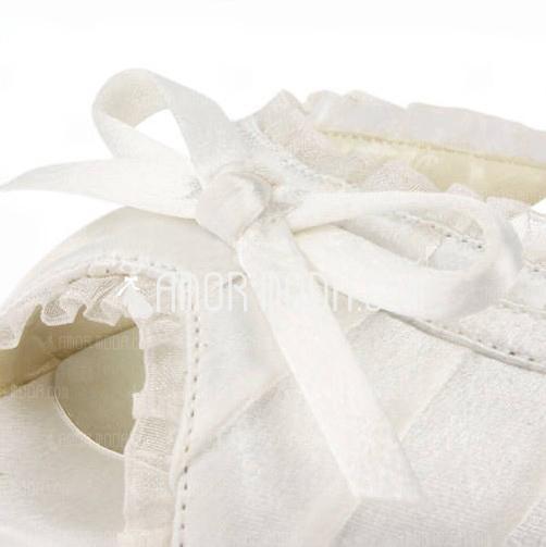 Vrouwen Satijn Stiletto Heel Sandalen met Strik Gesp Stitching Lace (047005497)
