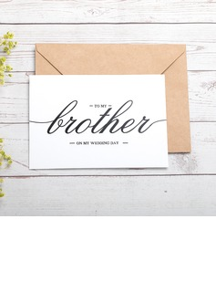 Bride Gifts - Classic Paper Wedding Day Card (255184423)