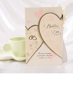 Heart Style Tri-Fold Invitation Cards (Set of 50) (114032376)