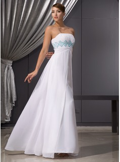 Empire Strapless Floor-Length Chiffon Evening Dress With Ruffle Beading Sequins (017014471)