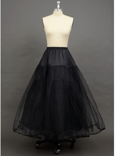 Women Tulle Netting Floor-length 3 Tiers Petticoats (037034003)