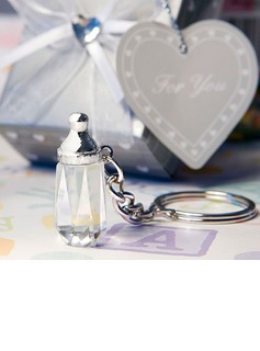 Classic Chic Crystal Bottle Stainless Steel Keychains (051024599)