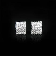 Shining Alloy/Rhinestones Ladies' Earrings (011026729)