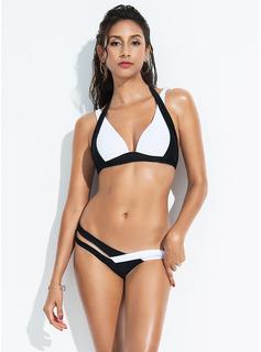 Sexy Taille basse Polyester Bikinis Maillot de bain (202173323)