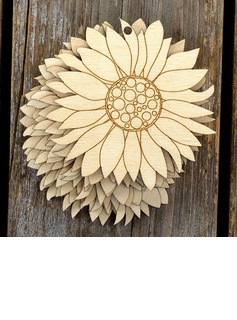 Nice/Flower Design Lovely/Pretty Wooden Wedding Ornaments (set of 10) (131178953)