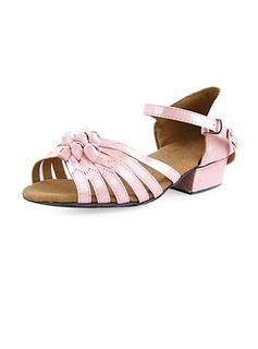 Frauen Kinder Satin Heels Sandalen Flache Schuhe Latin Ballsaal mit Des Bowknot Tanzschuhe (053013216)