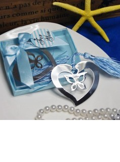 Butterfly & Heart Stainless Steel Bookmarks With Tassel (051013606)