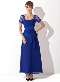 A-Linie/Princess-Linie Schatz Knöchellang Chiffon Kleid für die Brautmutter mit Perlstickerei Applikationen Spitze Pailletten Schleife(n) (008014546)
