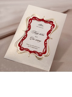 Individualisiert Vintage Art Wrap & Pocket Invitation Cards (Satz Von 50) (114031406)